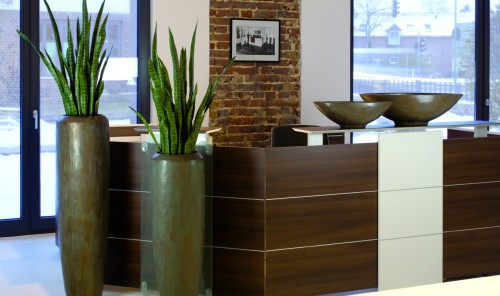 Loft Bronze Reception Planters