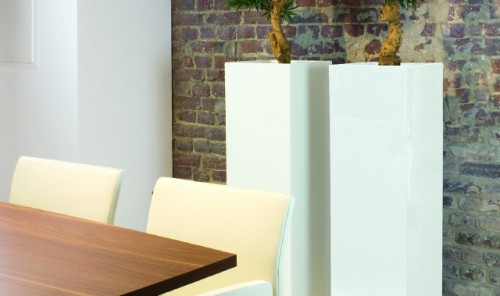 Tower Pure White Planters